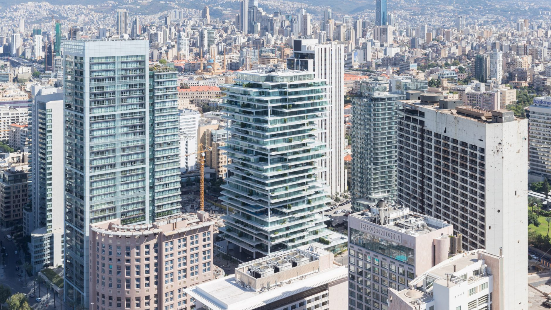 Beirut Terraces Are Designed As Vertically Layered Building.
